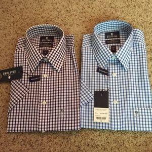 2 NWT Stafford Travel Short Sleeve Shirts